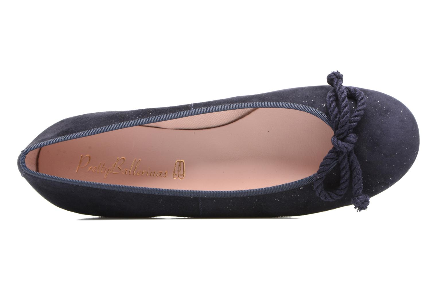 Ballet pumps Pretty Ballerinas Rosario Blue view from the left