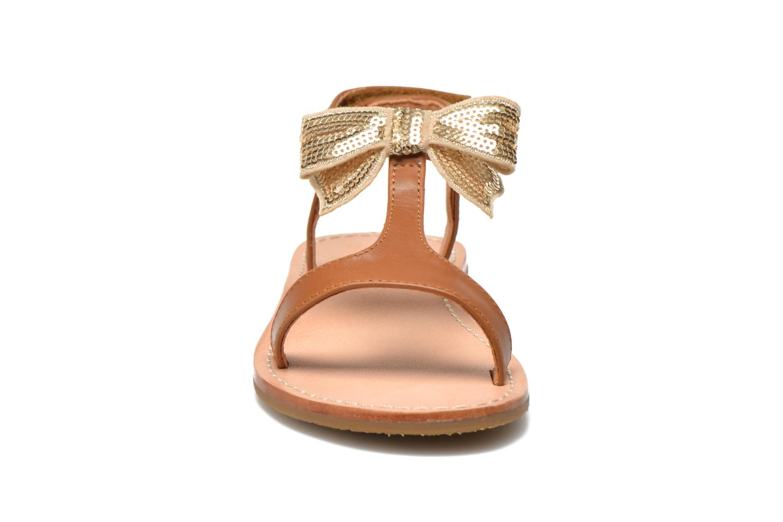 Sandals Mellow Yellow Mnvablist Brown model view