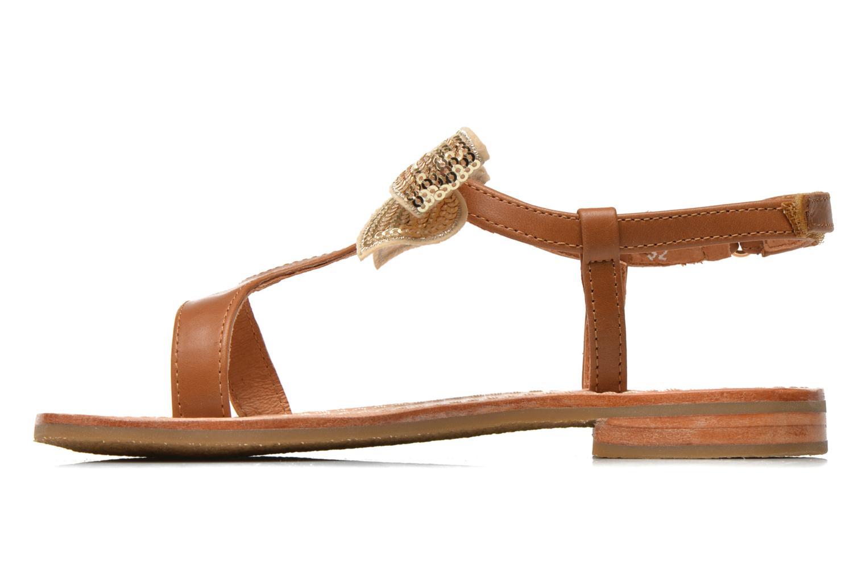 Sandals Mellow Yellow Mnvablist Brown front view