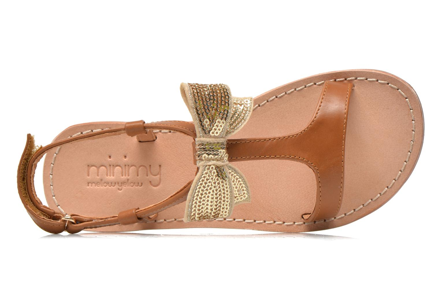 Sandals Mellow Yellow Mnvablist Brown view from the left