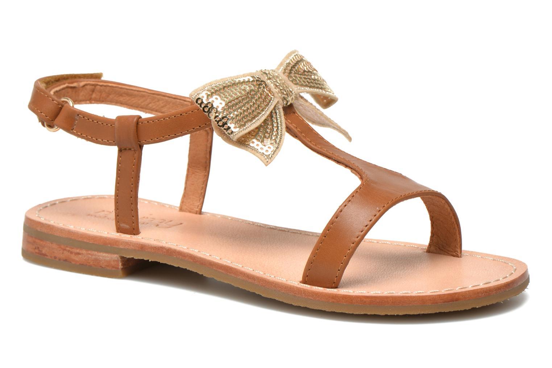 Sandals Mellow Yellow Mnvablist Brown detailed view/ Pair view