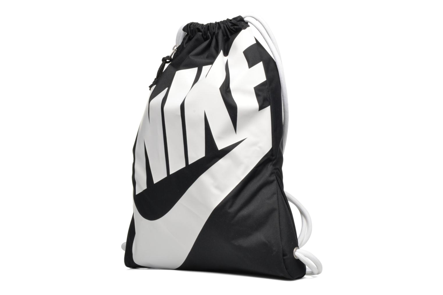 Sports bags Nike NIKE HERITAGE GYMSACK Black model view