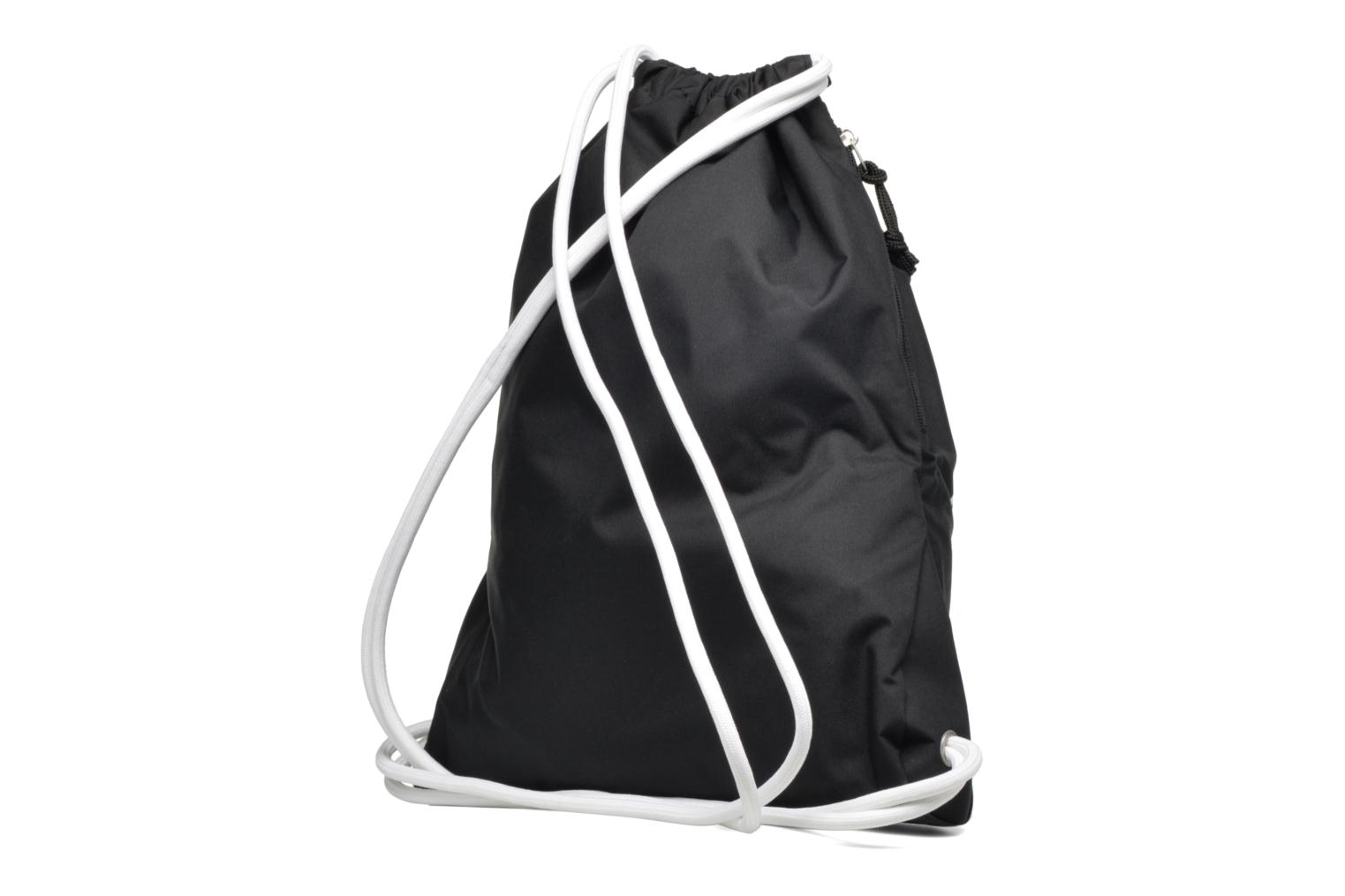 Sports bags Nike NIKE HERITAGE GYMSACK Black view from the right
