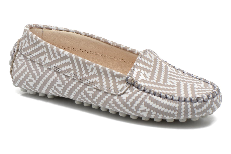 Loafers Manuela de Juan Bidai Grey detailed view/ Pair view