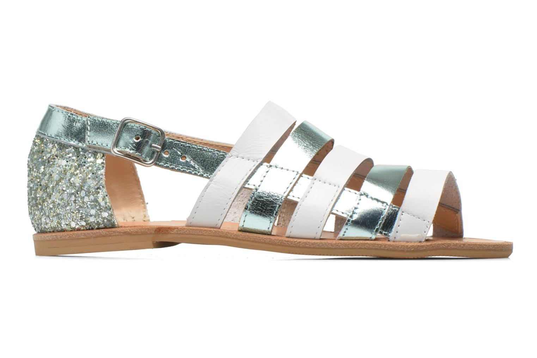 Sandals Manuela de Juan Irina Blue back view