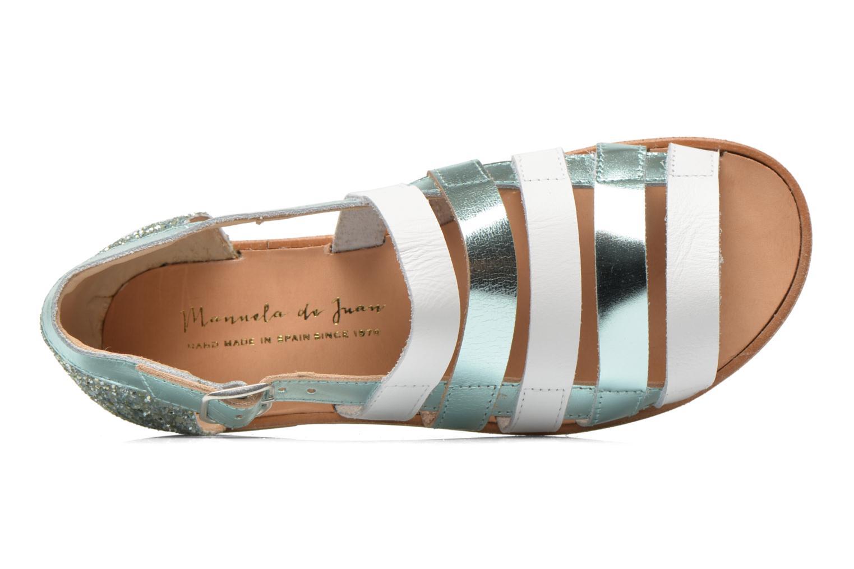 Sandals Manuela de Juan Irina Blue view from the left