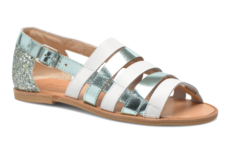 Sandals Manuela de Juan Irina Blue detailed view/ Pair view