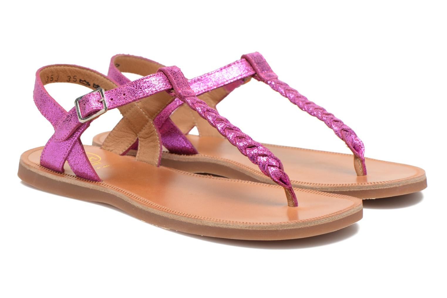 Sandals Pom d Api Plagette Antic Tong Pink 3/4 view