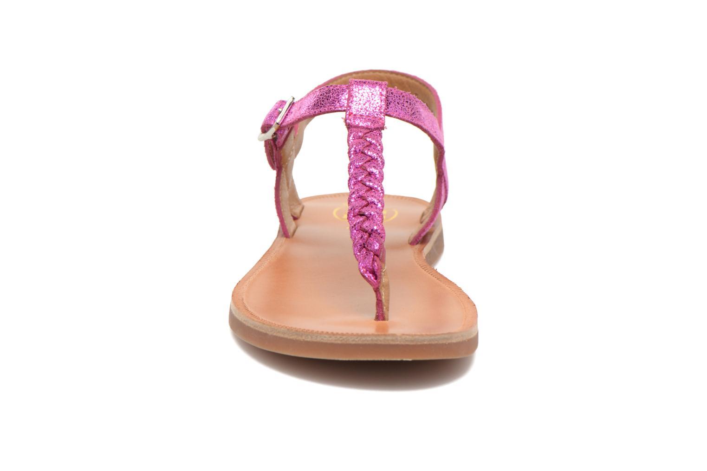 Sandales et nu-pieds Pom d Api Plagette Antic Tong Rose vue portées chaussures