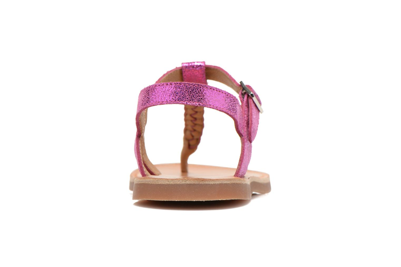Sandals Pom d Api Plagette Antic Tong Pink view from the right