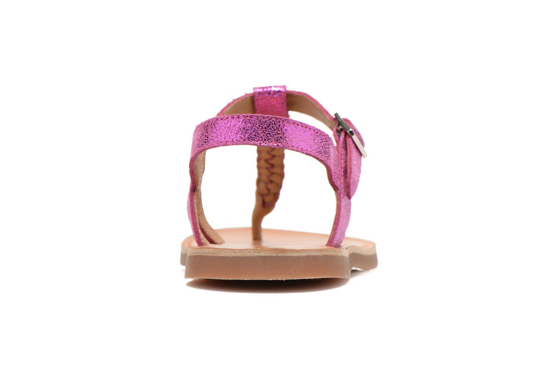 Sandales et nu-pieds Pom d Api Plagette Antic Tong Rose vue droite