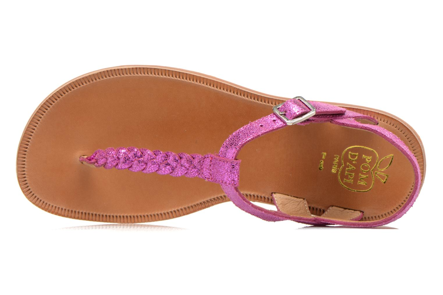 Sandals Pom d Api Plagette Antic Tong Pink view from the left