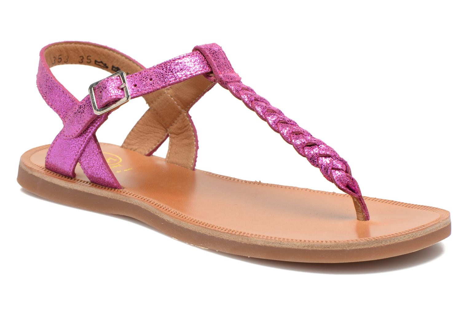 Sandals Pom d Api Plagette Antic Tong Pink detailed view/ Pair view