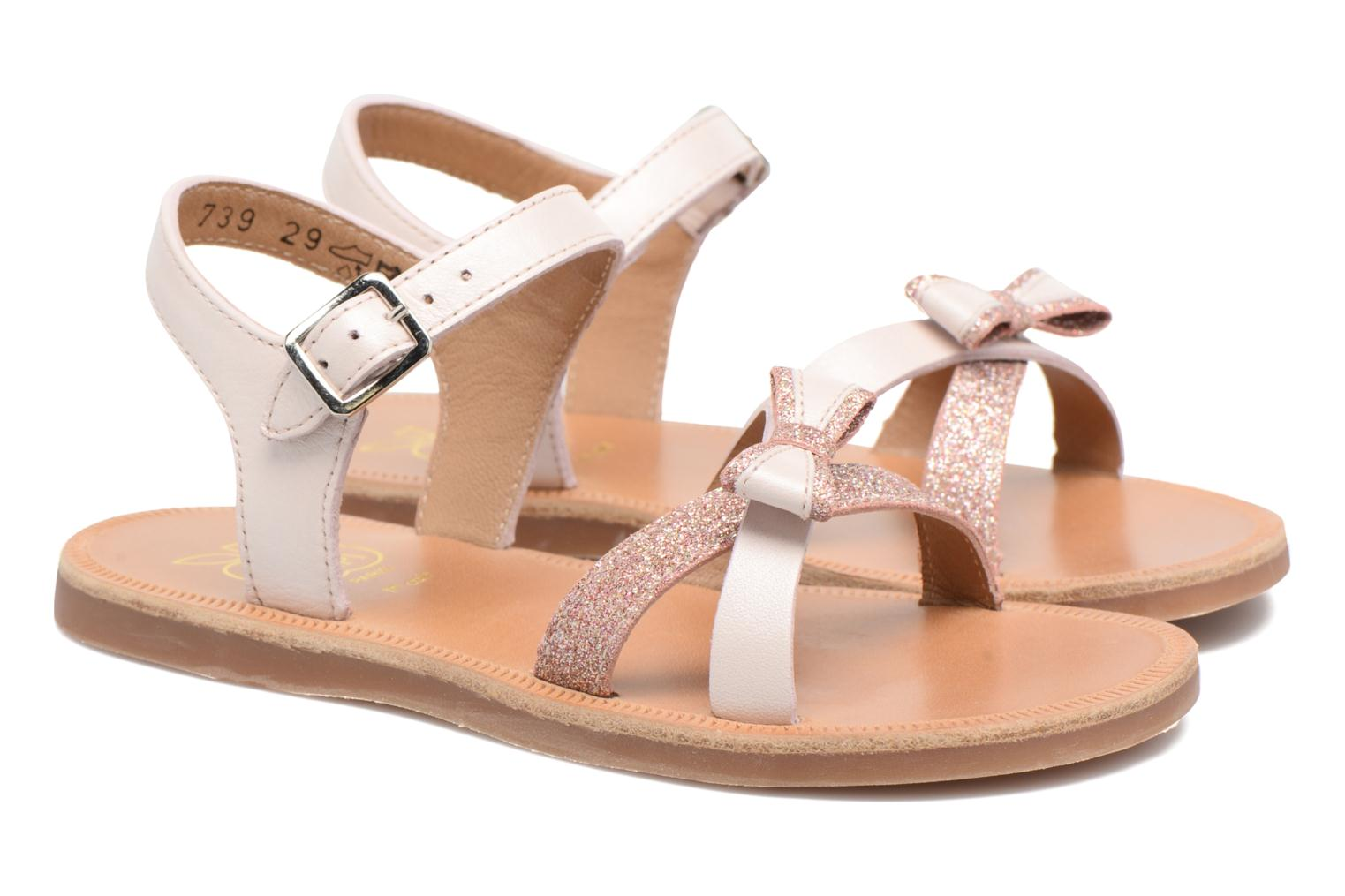 Sandals Pom d Api Plagette New Knot Pink 3/4 view