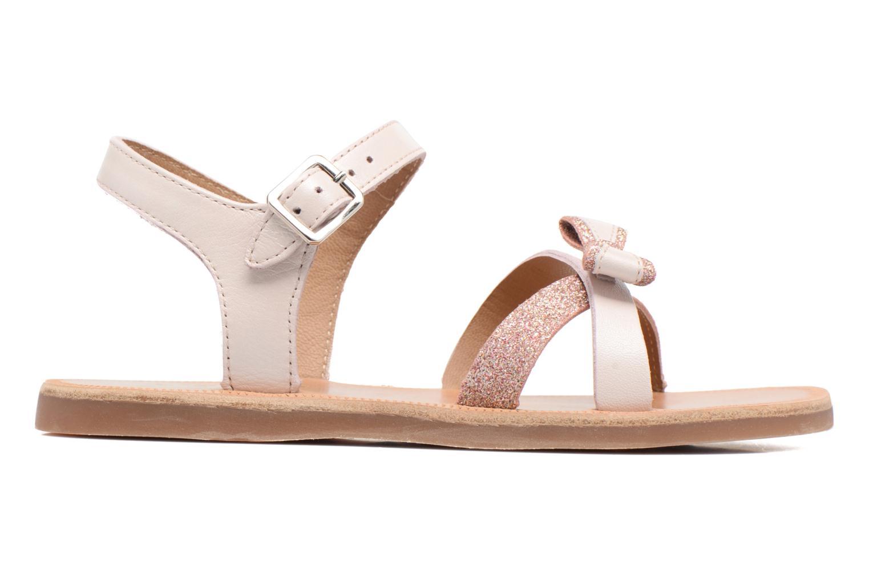 Sandales et nu-pieds Pom d Api Plagette New Knot Rose vue derrière