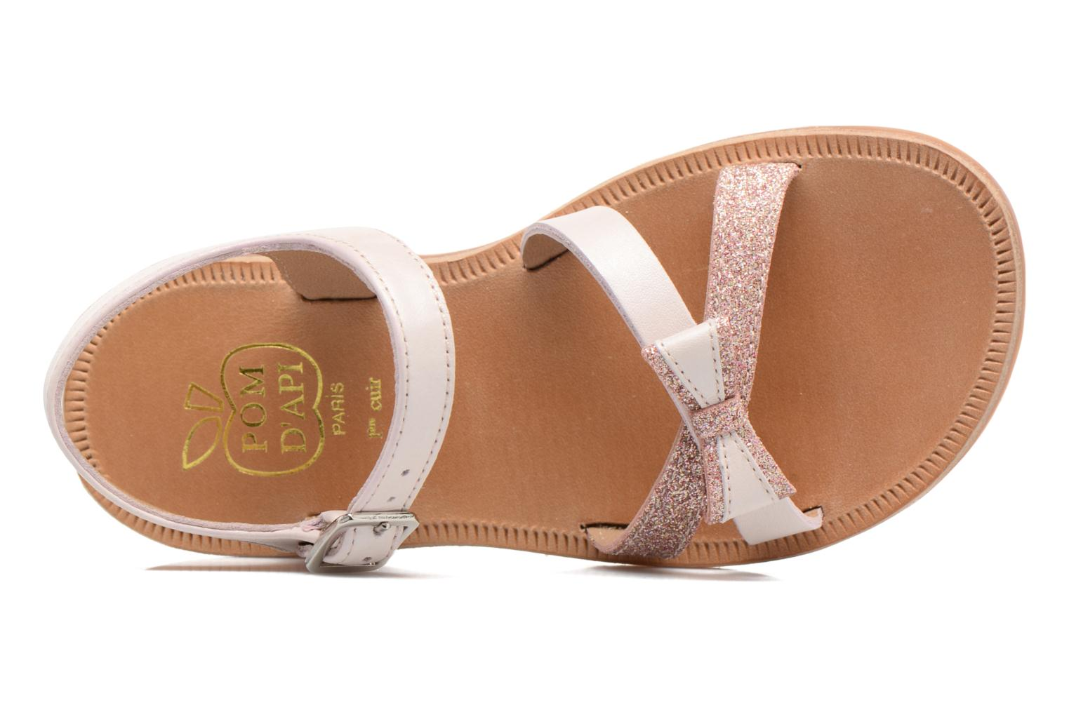 Sandals Pom d Api Plagette New Knot Pink view from the left