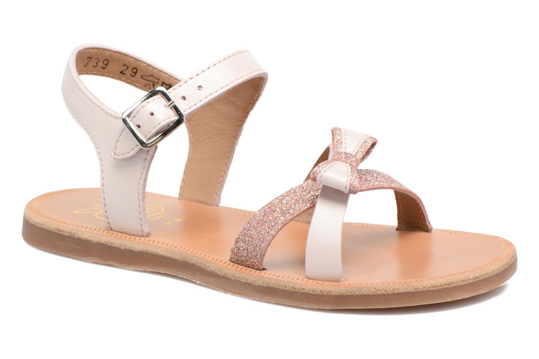 Sandales et nu-pieds Pom d Api Plagette New Knot Rose vue détail/paire