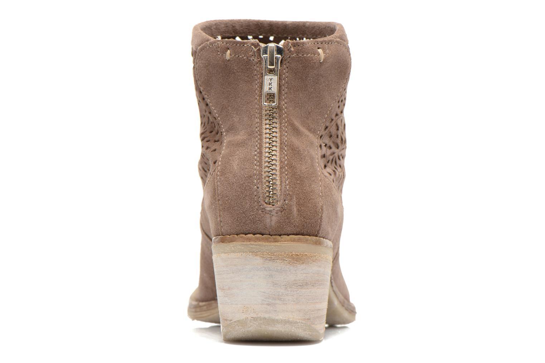 Bottines et boots Khrio Aeligana Or et bronze vue droite