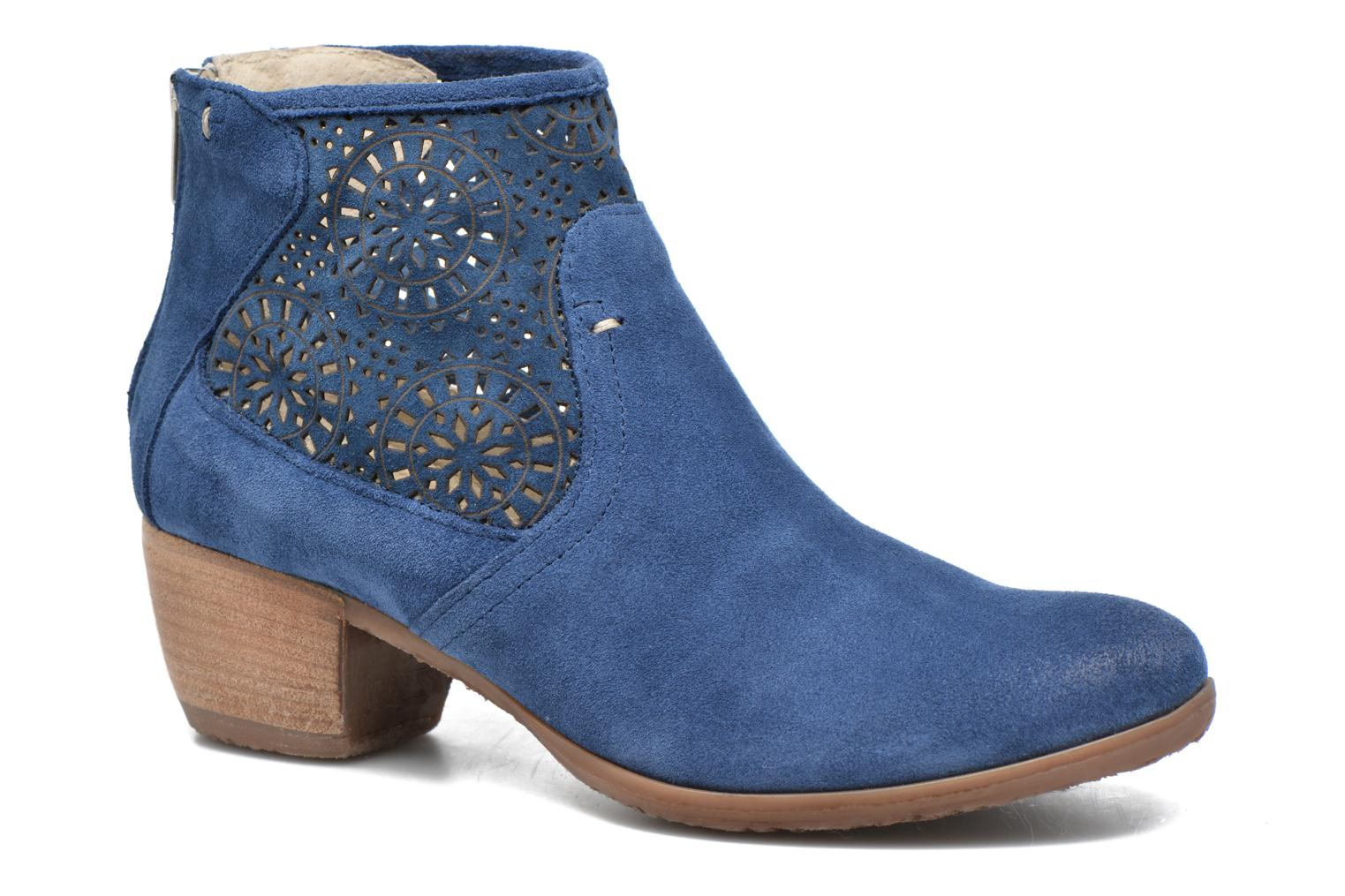 Ankle boots Khrio Aeligana Blue detailed view/ Pair view