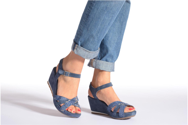 Sandales et nu-pieds Khrio Lounaka Beige vue bas / vue portée sac