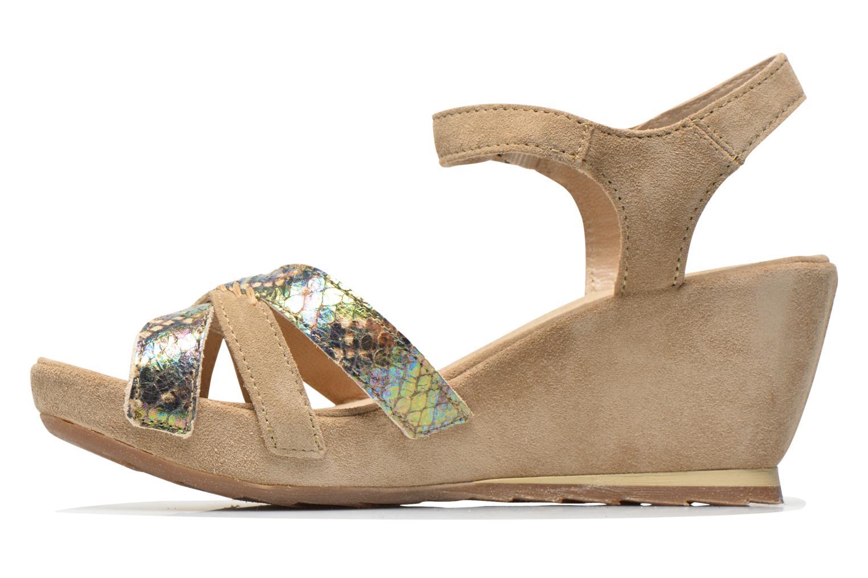 Sandales et nu-pieds Khrio Lounaka Beige vue face