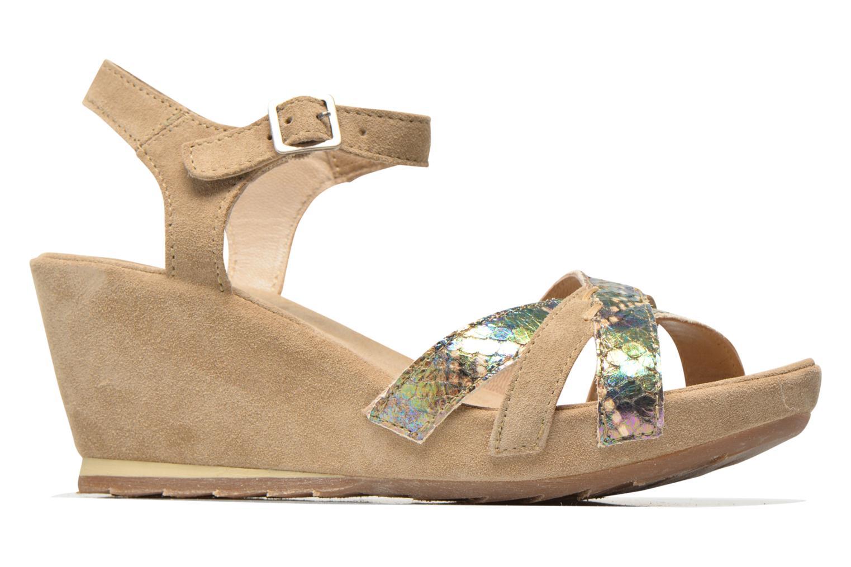 Sandales et nu-pieds Khrio Lounaka Beige vue derrière