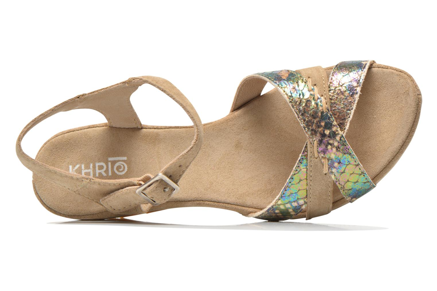 Sandals Khrio Lounaka Beige view from the left
