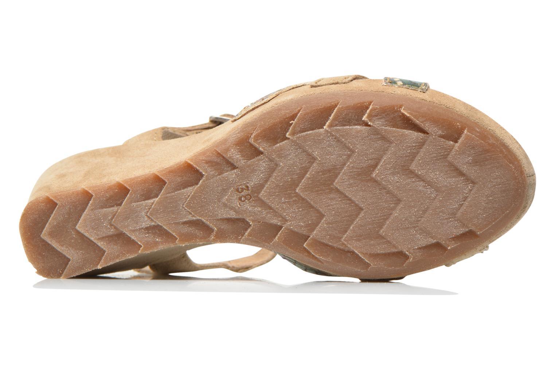 Sandales et nu-pieds Khrio Lounaka Beige vue haut
