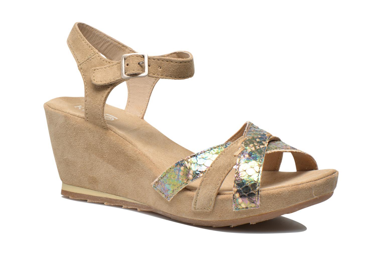 Sandales et nu-pieds Khrio Lounaka Beige vue détail/paire