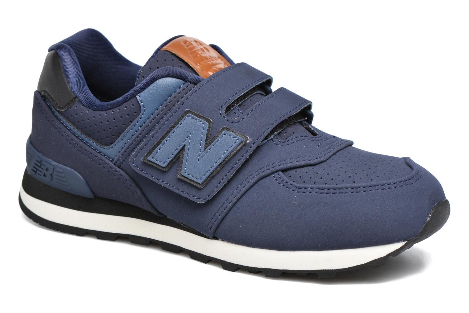 Trainers New Balance KV574 J Blue detailed view/ Pair view