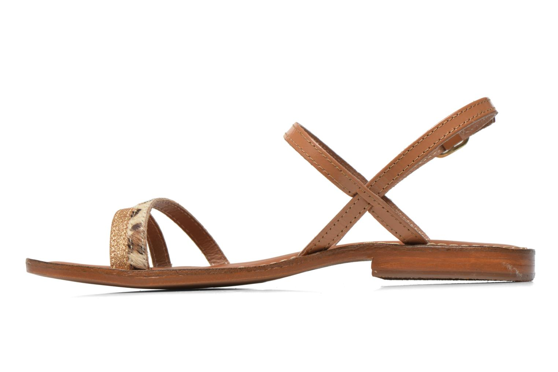 Sandales et nu-pieds L'Atelier Tropézien Laurette Marron vue face