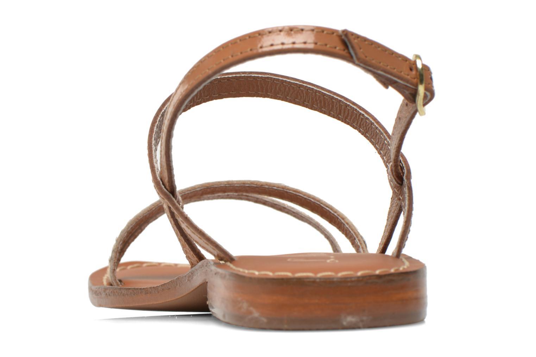 Sandales et nu-pieds L'Atelier Tropézien Laurette Marron vue droite