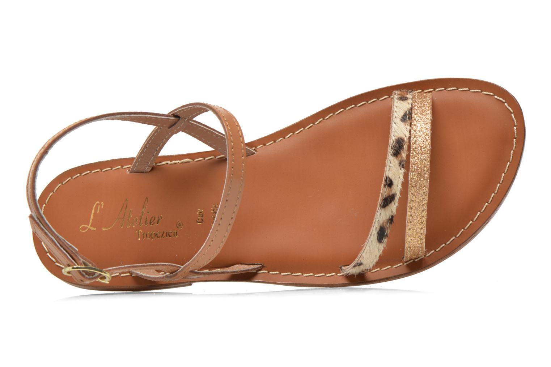 Sandales et nu-pieds L'Atelier Tropézien Laurette Marron vue gauche