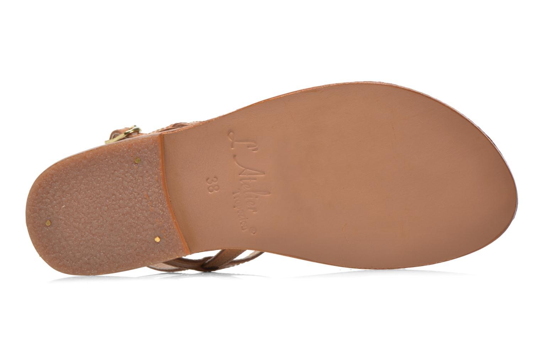 Sandales et nu-pieds L'Atelier Tropézien Laurette Marron vue haut