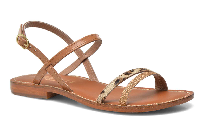 Sandales et nu-pieds L'Atelier Tropézien Laurette Marron vue détail/paire