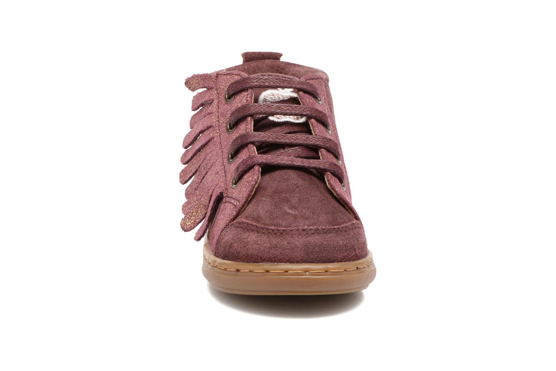 Bottines et boots Shoo Pom Bouba Lace Fringe Rose vue portées chaussures