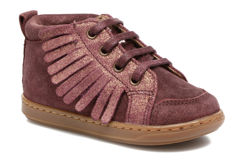 Bottines et boots Shoo Pom Bouba Lace Fringe Rose vue détail/paire