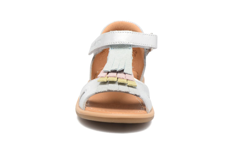 Sandales et nu-pieds Shoo Pom Tity Fringe Argent vue portées chaussures