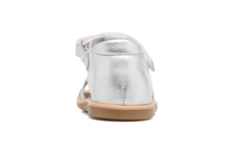 Sandales et nu-pieds Shoo Pom Tity Fringe Argent vue droite