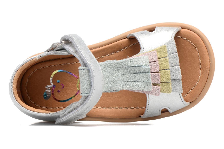 Sandales et nu-pieds Shoo Pom Tity Fringe Argent vue gauche