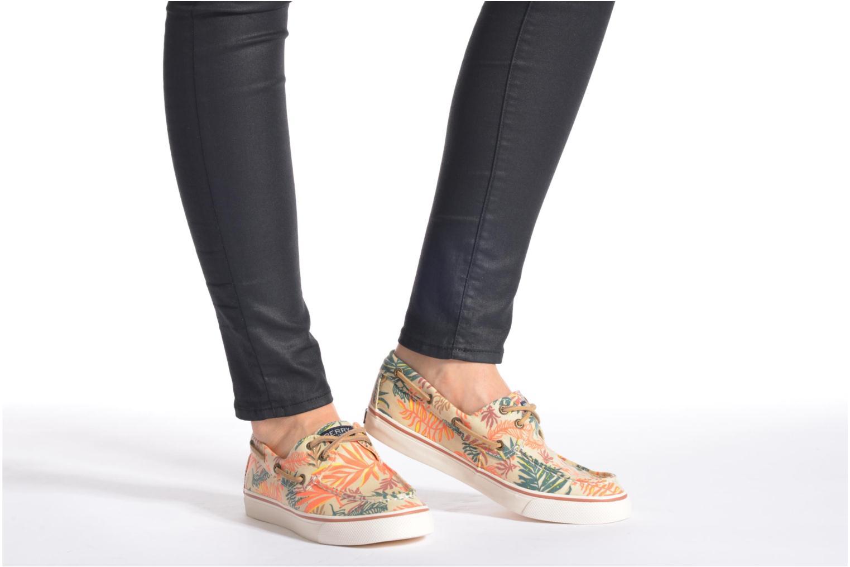 Schnürschuhe Sperry Bahama Seaweed Print mehrfarbig ansicht von unten / tasche getragen