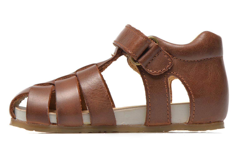 Sandales et nu-pieds Naturino Gabriele 1405 Marron vue face