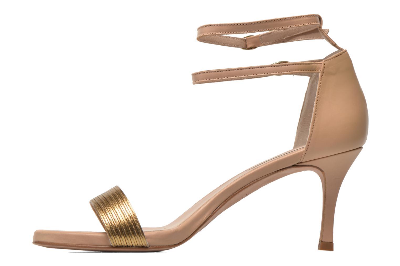Sandales et nu-pieds Pura Lopez Barcelona Or et bronze vue face