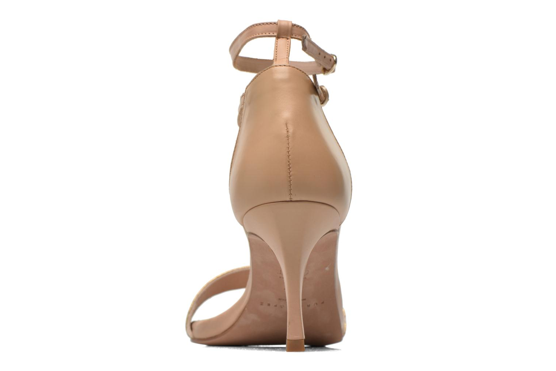 Sandales et nu-pieds Pura Lopez Barcelona Or et bronze vue droite