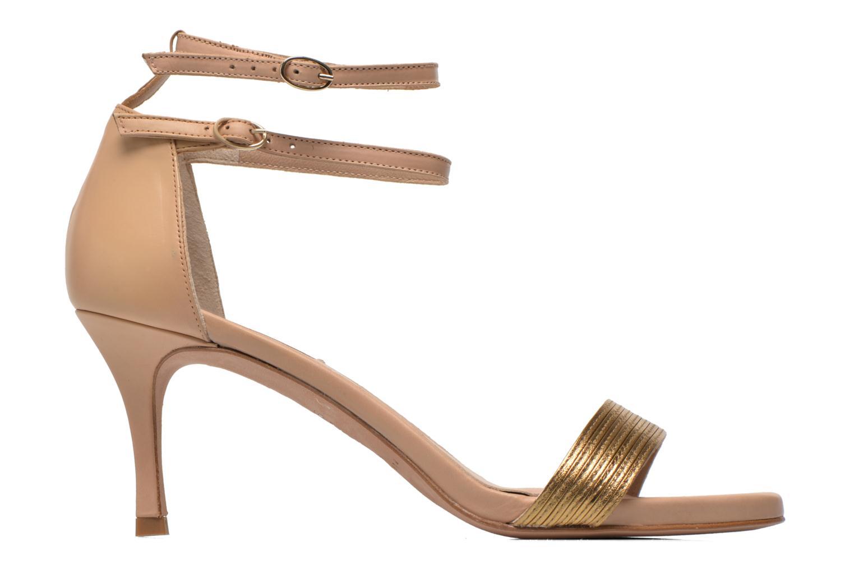 Sandales et nu-pieds Pura Lopez Barcelona Or et bronze vue derrière