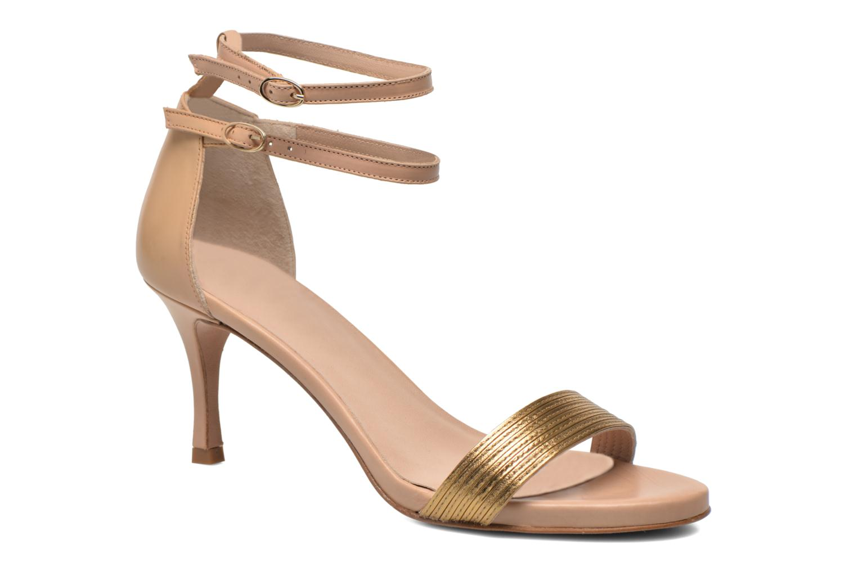Sandales et nu-pieds Pura Lopez Barcelona Or et bronze vue détail/paire