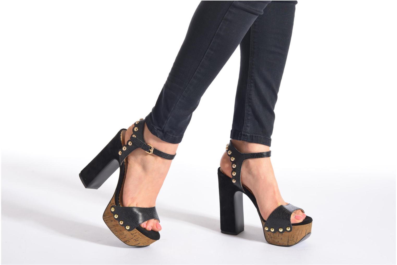 Sandales et nu-pieds Ash Bacci Noir vue bas / vue portée sac