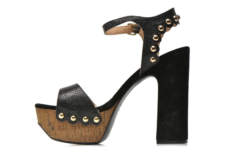 Sandales et nu-pieds Ash Bacci Noir vue face