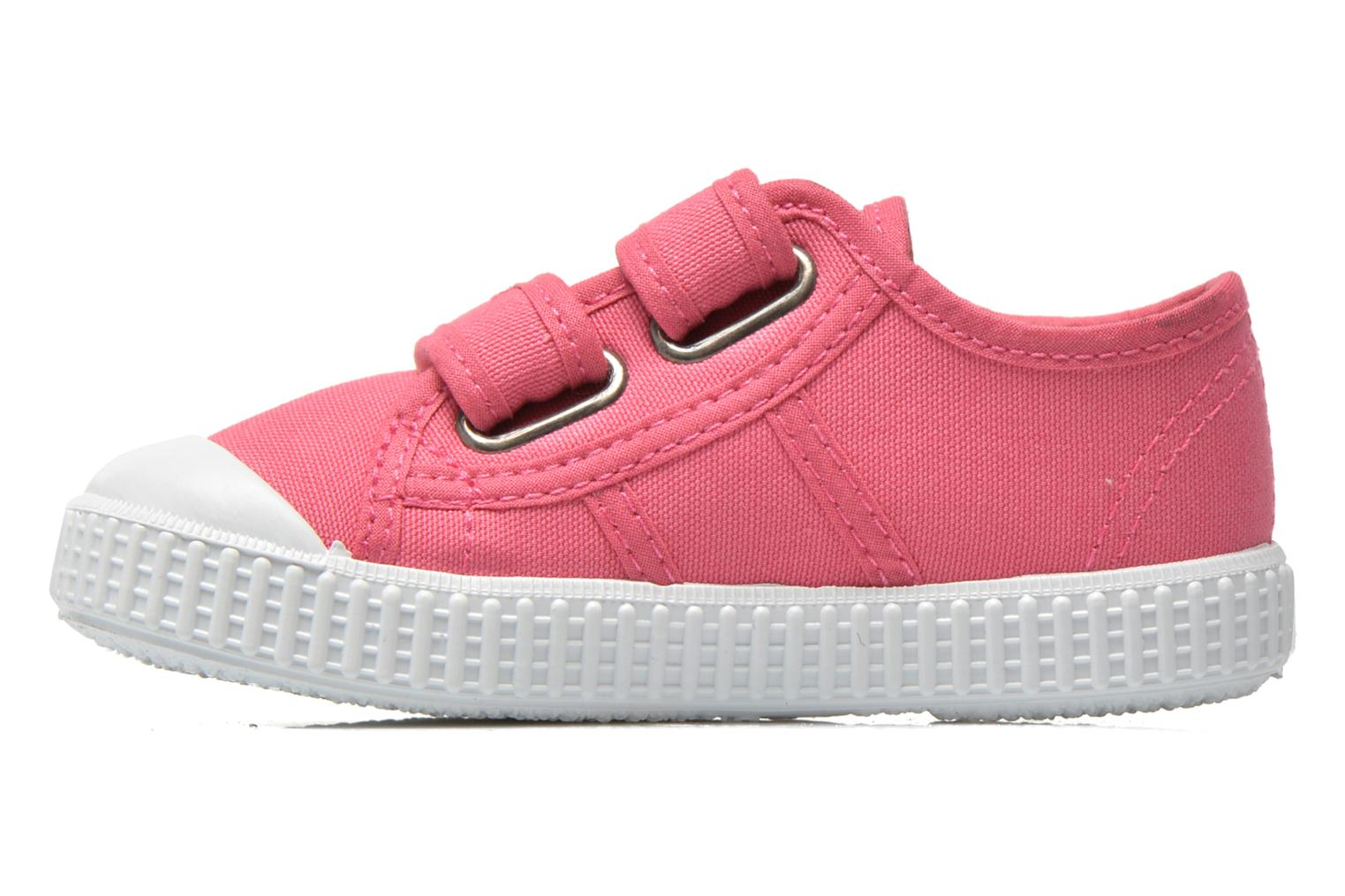 Trainers Victoria Basket lona Dos Velcos Pink front view