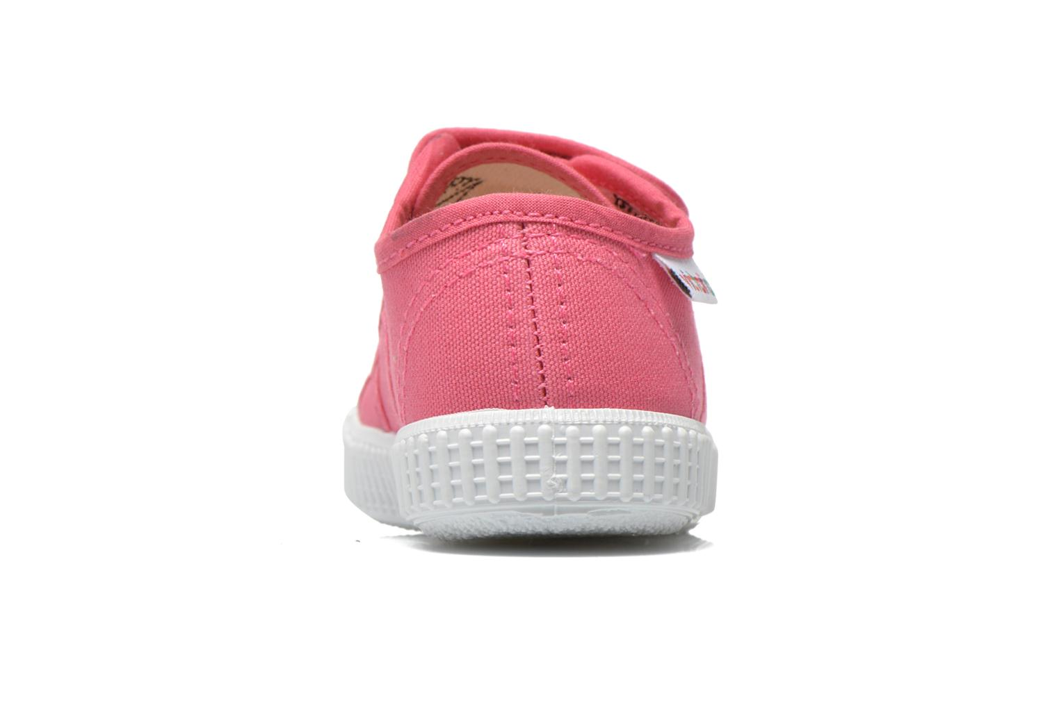 Trainers Victoria Basket lona Dos Velcos Pink view from the right